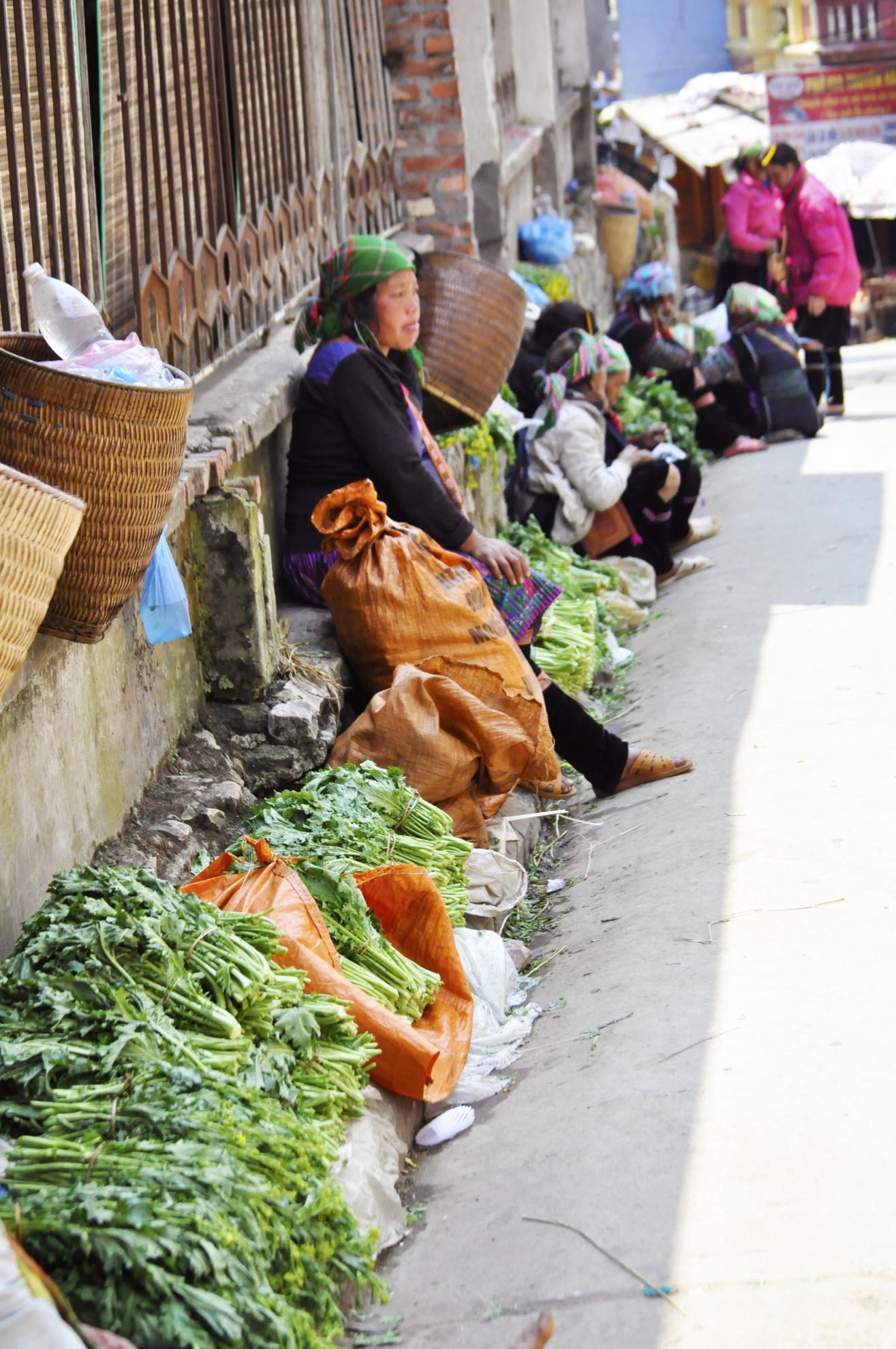 vegetables in sapa