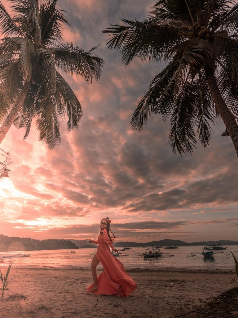 sunset philippines port barton palawan